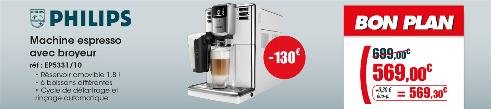 Expresso avec broyeur Philips EP5331/10